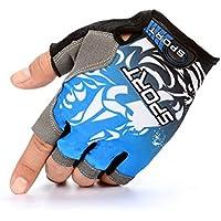 GYPO Barbecue Handschuh Sport Halbe Fingerhandschuhe Fingerlose Handschuhe Rutschfeste Atmungsaktive Handschuhe Fahrrad Radfahren Outdoor für Männer Frauen (L) Grillen Handschuhe