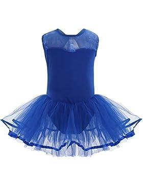 YiZYiF Kinder Mädchen Ballettanzug Ballettkleid Ballett Trikot Mädchen Kleider 104 116 128 140 152 164