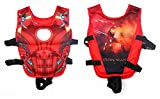 #1: Wishkey Swimming Adjustable Life Jacket Vest Super Hero Character Floating Belt Water Sports Pool Accessories Swimming Training Buoyancy Float for Kids 3 to 8 Years