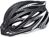 R&R Rennradhelm Arrow | Fahrradhelm | Radhelm | MTB-Helm | Triathlon-Helm | Damen und Herren (schwarz/weiß, M (56-58))
