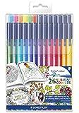 Staedtler 323 TB26JB Filzstifte triplus color Set mit 26 sortierten Farben Exklusive Johanna Basford Edition, ergonomische Dreikantform, Schreiben, Malen und Zeichnen