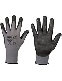 stronghand® Handan Nylon-Strick-Handschuhe (12er Pack) - EN388 CE Cat 2 - benoppt - grau - Gr. 8