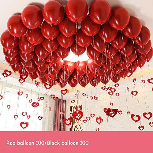 Espesar Redonda Metálicos Nacarado Látex Globos Evento de Decoraciones de Boda Globos de Fiesta con la Cinta para Bodas cumpleaños decoración del Partido-B