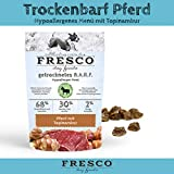 Trockenfutter getreidefrei | Hundefutter für Allergiker | viel Fleisch | Barf artgerecht & unkompliziert | Trockenbarf Hypoallergen-Menü Pferd 1kg