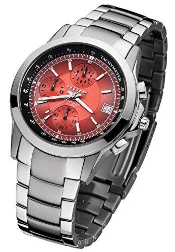 FIREFOX SHOOTER FFS07-105 rot Chronograph Herrenuhr Armbanduhr Sicherheits- Faltschließe 10 ATM water resistant