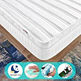 Ej. Life Pocket Sprung Mattress with Memory Foam and 3D Breathable Fabric - Multi-Functional 9-Zone Orthopaedic Mattress - 10.6-Inch Deep