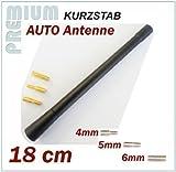 FIAT KFZ Antennenstab INION® Universal 18 cm Kurz Stab Antenne mit M4 M5 M6 Adapter *** 500 - BRAVA - BRAVO - CINQUECENTO - CROMA - DOBLO - DUKATO - FIORINO - FREEMONT - LINEA - MAREA - MULTIPLA - PANDA - NEW PANDA - PUNTO - QUBO - SEICENTO - TIPO - UNO - STILO ----- UKW - FM - Kurzstab PKW Dachantenne