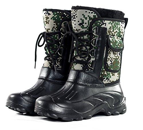 Scarpe Da Uomo Mezza Età Punta Rotonda Unisex Adulto Classico Mid Boots Da Combattimento Woodland Camo