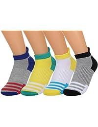 EOZY Lot 4pcs Socquette Chaussette Basse Sock Homme Femme Sport Protège-Pied