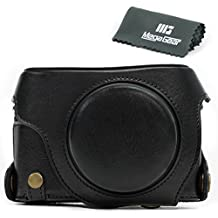 MegaGear Bolsa de Funda Protectora Para Panasonic LUMIX LX100, DMC-LX100 Cámara Compacta (Negro)