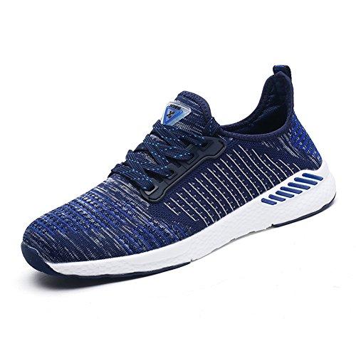 Gomnear Atmungsaktiver Sneaker Mens Frauen Laufen Leicht Paar Beiläufig Mesh Gehen Sportlich Sport Schuhe Königsblau