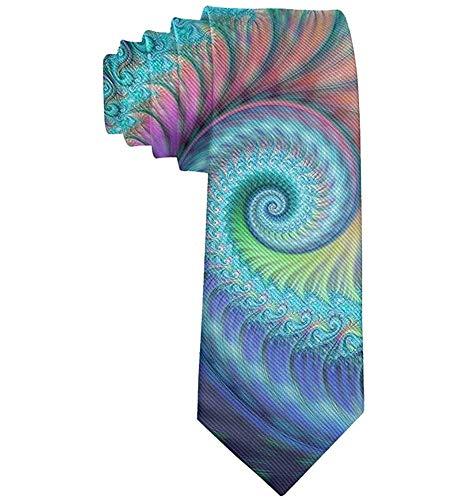 Warm Night Accessori per cravatta da uomo casual Cravatta per conferenze, feste, matrimoni, polpo turchese frattale