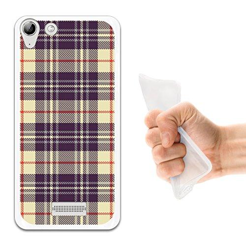 WoowCase Wiko Selfy 4G Hülle, Handyhülle Silikon für [ Wiko Selfy 4G ] Kreuz Schottenkaro Material Handytasche Handy Cover Case Schutzhülle Flexible TPU - Transparent