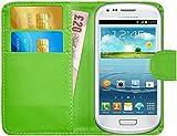 G-Shield Hülle für Samsung Galaxy S3 Mini Klapphülle mit Kartenfach (I8190) - Grün