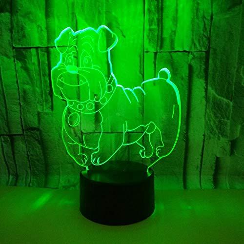 3D Optical Illusion Lampe 7 Farben Usb Touch Schalter Nachtlicht Süßer Welpe Geburtstag Valentinstag Schlarfzimmer Dekoration Für Kinder Kinder Weihnachts Geschenk