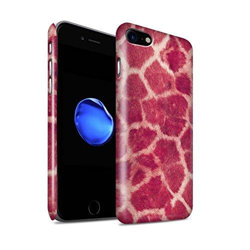 STUFF4 Glanz Snap-On Hülle / Case für Apple iPhone 8 / Grün Muster / Giraffe Tier Haut/Print Kollektion Rosa