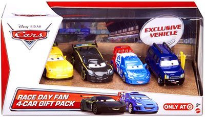 2013 Disney Pixar Cars - Race Day Fan 4 Car Gift Pack w/ Clutch Foster - Exclusive