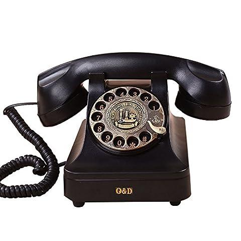 SJMM Antique Antique Téléphone rétro style Européen, phono, ligne téléphonique directe,téléphone fixe