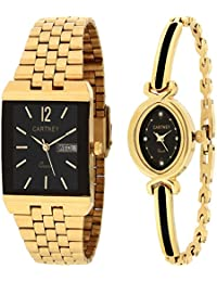 CARTNEY Analogue Black Dial Men's & Women's Couple Watch - Ccty-Gnts-241