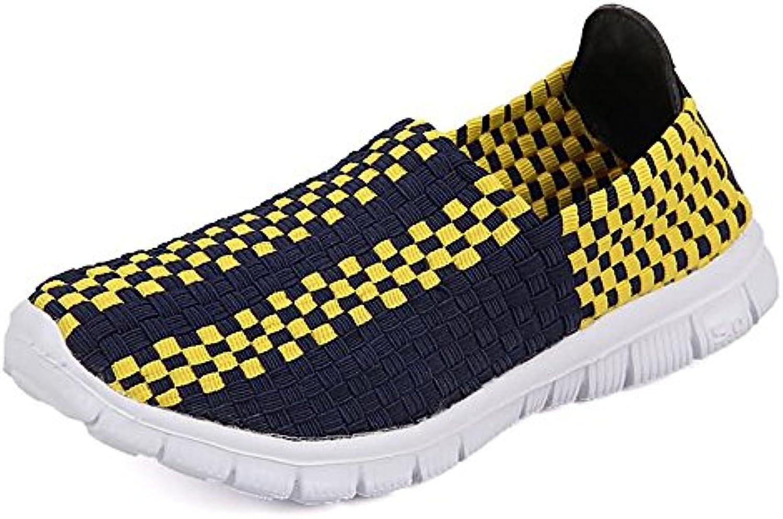 Scarpe da Ginnastica per Donna e Uomo Grid Grid Grid Pattern Slip On Splice Vamp Leisure Fashion scarpe da ginnastica Scarpe da Cricket | Raccomandazione popolare  da3933