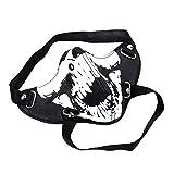 P Prettyia Masque De Tête De Crâne Squelettique PU Masque Moitié Visage Gothique Steampunk Punk Halloween