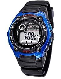 Reloj de estudiante - SYNOKE Multifunction Unisex Relojes digitales de deporte Azul