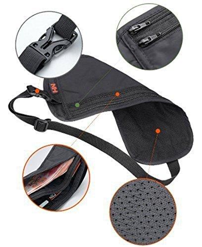Outdoor-Multi-Paket Wallet Wasserdicht Geldgürtel / Gürteltasche / Gürteltasche Ultradünne Zertifikat Tasche Close Montage Pocket-Anti-Diebstahl-Umhängetasche Khaki