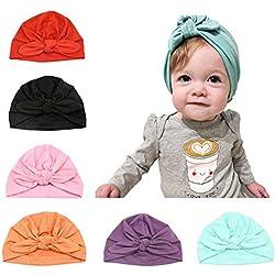 Baby Hat 6 Unids Recién Nacido, 100% Algodón