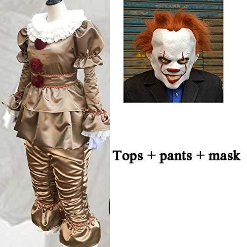 Batman Halloween Kostüm Frauen - WSCOLL Clown Cosplay Stephen King Es