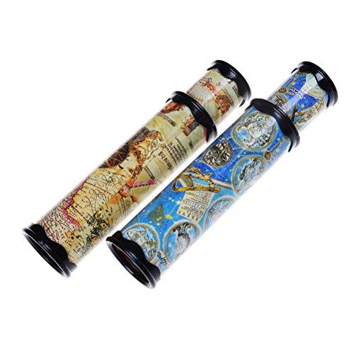 FADACAI 2 Stück Kaleidoskop für Kinder Lernspielzeug Spiegelspielzeug Mitgebsel Kindergeburtstag, Kinderparty Zubehör