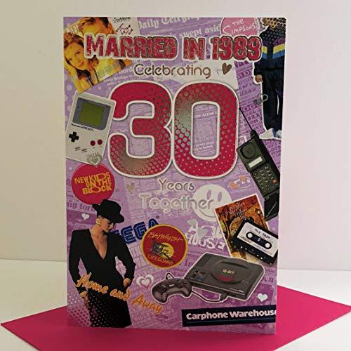 Jonny Javelin Carte d'anniversaire de mariage 30 ans en 1989