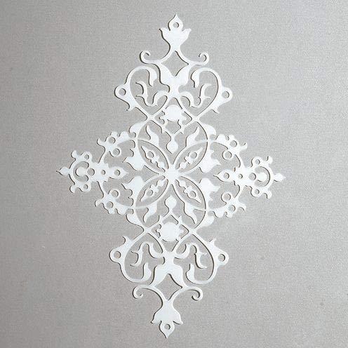 efco-Stencil Ornament/1Design, Kunststoff, transparent, 15x 21cm