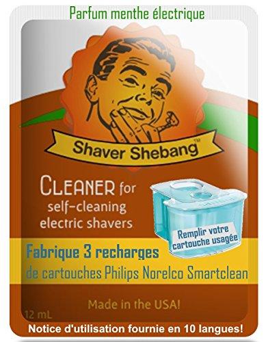 9 ricariche per cartucce Philips Norelco SmartClean - Mint elettrico