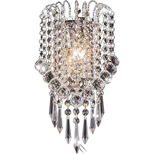LLF Wandleuchten mit Kristalltropfen, 2 Stück E14-Glühbirne, 7,1 x 12,6 Zoll -