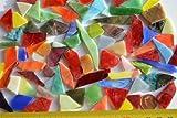 50-80 St. Mini Tiffany-Glas Bruchmosaik unbearbeitet bunt 100g
