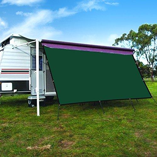 CAMWINGS Wohnmobil-Markise Sichtschutz Schatten Panel Kit Sunblock Schatten Drop 10x 16ft, dunkelgrün