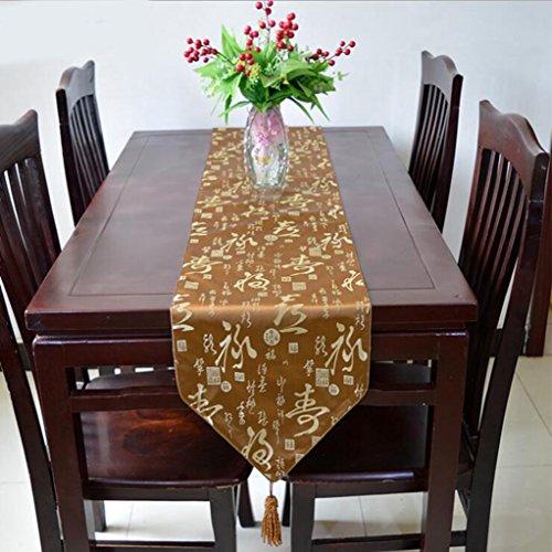Miaoge Brocade table bandiera società seta festa panno tradizionale cinese flag tabella 33*200cm