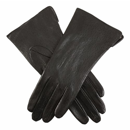 Dents Women's Warm Lined Leather Long Glove Black 7 UK