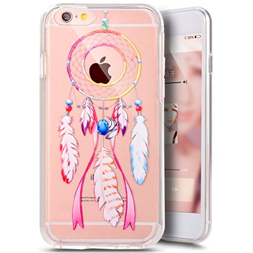 Coque Housse pour iPhone 6 Plus/6S Plus, iPhone 6S Plus Coque Silicone Ultra Mince Etui Combo Housse, iPhone 6 Plus TPU Coque Soft Etui en Silicone,iPhone 6 Plus/6S Plus Silicone Transparent Case TPU  Dreamcatcher