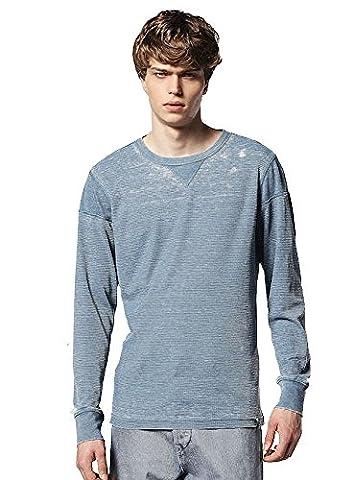 DIESEL Herren T-Harold Waffel Design Langarm T-Shirt 8hn L