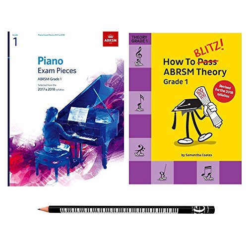 Beginners Learn Piano Pack with ABRSM Grade 1 Piano Pieces, How to Blitz ABRSM Theory Grade 1 and Piano Pencil