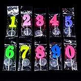Simuer modellata numero candele per festa di compleanno candele 0-9Time Special Day Funny wish candele multicolore, pezzi