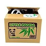 Lobzon Automated Money Panda Coins Bank Pot Money Saving Case Box