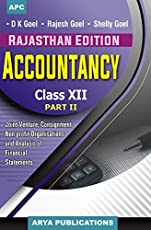 Accountancy Part-II Class-XII (Rajasthan Edition)