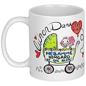 My Sweetheart® Hebamme Geschenk | lustige PERSONALISIERBARE Tasse | Danksagung für Hebammen