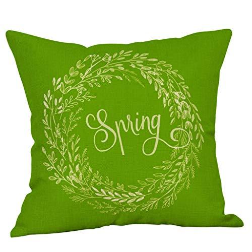 Dicomi Super Weicher Und Flauschiger Frühling Blume Kissenbezug Platz Abdeckung Sofa Taille Kissenbezüge Home Decor (45 X 45 cm)