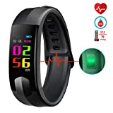 Fitness Tracker, CHEREEKI Pulsera Actividad Pantalla Color Pulsera Inteligente con Cardíaco Monitor Reloj Inteligente con Presión Arterial / Oxígeno Sanguíneo / Monitor de Sueño / Mensajes SNS