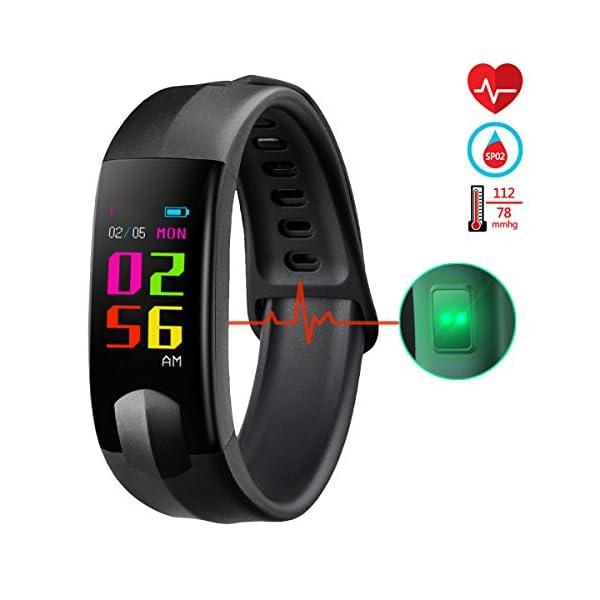 22eb0b03529c Fitness Tracker, CHEREEKI Pulsera Actividad Pantalla Color Pulsera ...