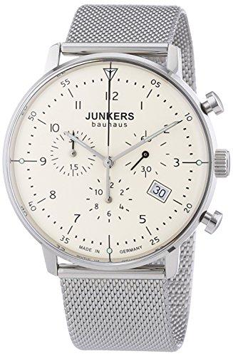 Junkers Herren-Armbanduhr XL Bauhaus Chronograph Quarz Edelstahl 6086M5