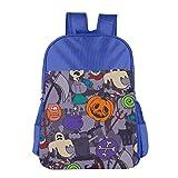 Crazy Halloween Holiday Children School Backpack Carry Bag For Kids Boys Girls